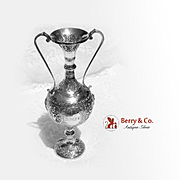 Ornate Thai Dancer Vase Sterling Silver 1896