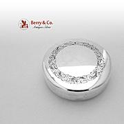 Aesthetic Round Box German 835 Standard Silver 1890