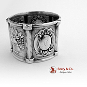 Fruit Basket Napkin Ring Coin Silver 1860