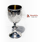 Antique Tiffany Large Ornate Goblet Sterling Silver 1872