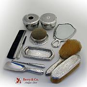 Amazing Tiffany Dresser Set Sterling Silver 11 Pieces 1928