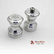 Salt Shaker Pepper Grinder Set Sterling Silver Revere Silversmiths 1950
