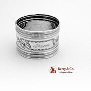Engraved Napkin Ring Sterling Silver Gorham 1870