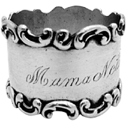 Scroll Napkin Ring Sterling Silver Wallace 1900