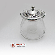 Repousse Jam Jar Sterling Silver Stieff 1940