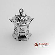 Figural Japanese Lantern Salt Shaker Sterling Silver 1930