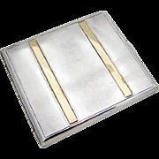 Vintage Cigarette Case 900 Silver Gold ADAR 1930