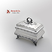 Ornate Judeica Box Sterling Silver Hazforim 1950