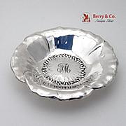 Poppy Figural Serving Bowl Sterling Silver Shreve Co 1920