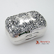 Ornate Floral Scroll Soap Box Sterling Silver Gorham 1903