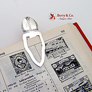 Floral Embossed Bookmark Sterling Silver 1940.
