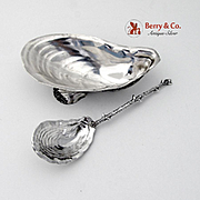 Amazing Aesthetic Shell Almond Dish Sterling Silver 2 Pieces Gorham 1890