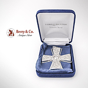 Christmas Cross Ornament Sterling Silver Reed and Barton 2003