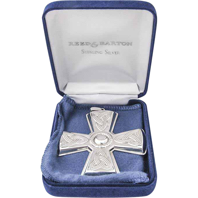 Christmas Cross Ornament Sterling Silver Reed And Barton