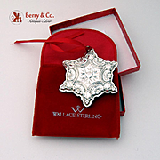Snowflake Sterling Ornament 2001 Wallace Grande Baroque