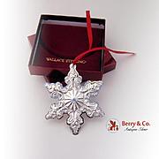 Snowflake Sterling Ornament 2003 Wallace Grande Baroque