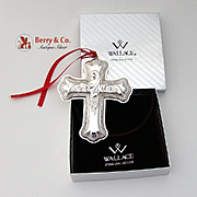 Cross Sterling Ornament 2007 Wallace Grande Baroque
