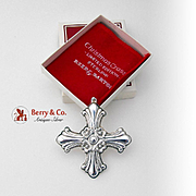 Christmas Cross Ornament Sterling Silver Reed and Barton 1985