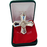 Christmas Cross Ornament Sterling Silver Reed and Barton 2004