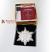 Gorham Christmas Ornament Sterling Silver 1999