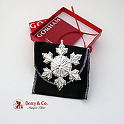 Gorham Christmas Ornament Sterling Silver 2007
