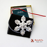 Gorham Christmas Ornament Sterling Silver 1998