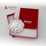 Christmas Ornament Floral Medallion Sterling Silver Towle 1987