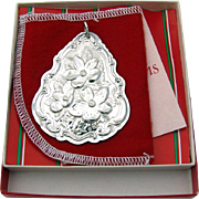 Christmas Ornament Floral Medallion Sterling Silver Towle 1983