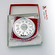 Christmas Ornament 11 Pipers Piping Medallion Sterling Silver Towle 1981