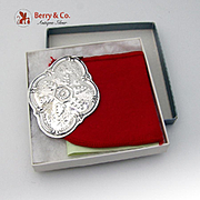 Christmas Ornament The Songs Of Christmas Medallion Sterling Silver Towle 1984