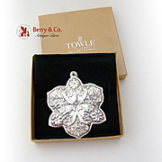 Christmas Ornament Snowflake Sterling Silver Towle 2010