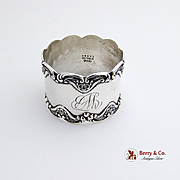 Floral Scroll Napkin Ring Sterling Silver Gorham 1900