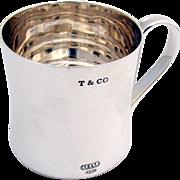 Tiffany Co 1837 Baby Mug Sterling Silver 1980
