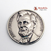 Abraham Lincoln Inaugural Medal Sterling Silver Italy 1960