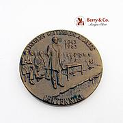 Lincolns Gettysburg Address Commemorative Medal Bronze Robbins 1963