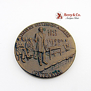 Lincolns Gettysburg Address Commemorative Medal Bronze Robbins 1963