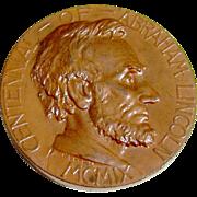 Lincoln Centennial Medal Bronze 1909