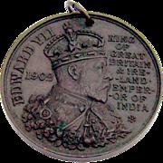 Edward VII Coronation Medal Borough Of Cambridge Bronze 1902