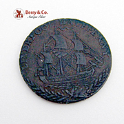 British Lancanshire Halfpenny Token Copper 1791