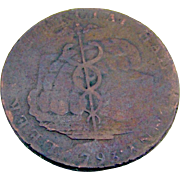 British Staffordshire Halfpenny Token Copper 1793
