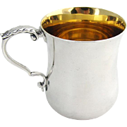 Scroll Foliate Heavy Baby Cup Sterling Silver Tuttle 1948