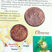 East India Company Recovered Copper Cash Coins 1808