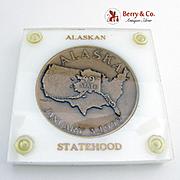 Alaska Statehood Commemorative Medal Bronze Metallic Art Co 1959