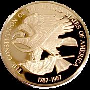 The Constitution Bicentennial Commemoration Medal Bronze Franklin Mint 1987