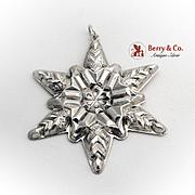Gorham Snowflake Christmas Ornament Sterling Silver 1970