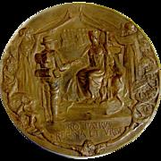 Boer War Volunteer London Tribute Medal Bronze George Frampton 1900