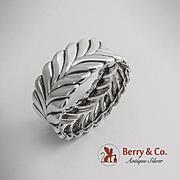 Tiffany Co Stylized Laurel Wreath Napkin Ring Sterling Silver 1940