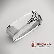 Art Deco Blossom Oval Napkin Ring Sterling Silver Webster 1940