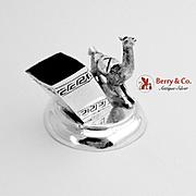 Llama Toothpick Holder Sterling Silver Peru 1960