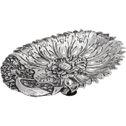 Ornate Footed Bowl 800 Standard Silver Jogya Indonesia 1930